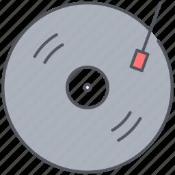 album, audio, gramophone, music, song, vintage, vynil icon