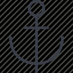 anchor, brake, sea, ship, singapore icon