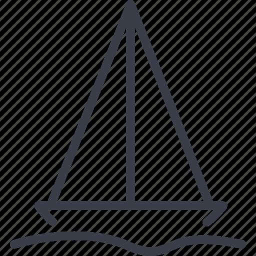 cruise, sea, singapore, yacht icon