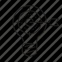 bulb, idea, target icon