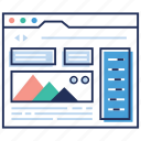 business intelligence dashboard, data analysis, seo, web dashboard, web statistics icon