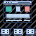 domain transfer, web data sharing, web hosting, web server, website address icon