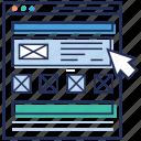 arrow, brower, cursor on website, digital marketing, website click icon