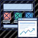 ui, web dashboard, web design, web layout, wireframe icon