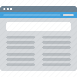 browser, layout, sitemap, ui, web, wireframe icon