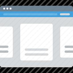 browser, layout, sitemap, slider, ui, web, wireframe icon