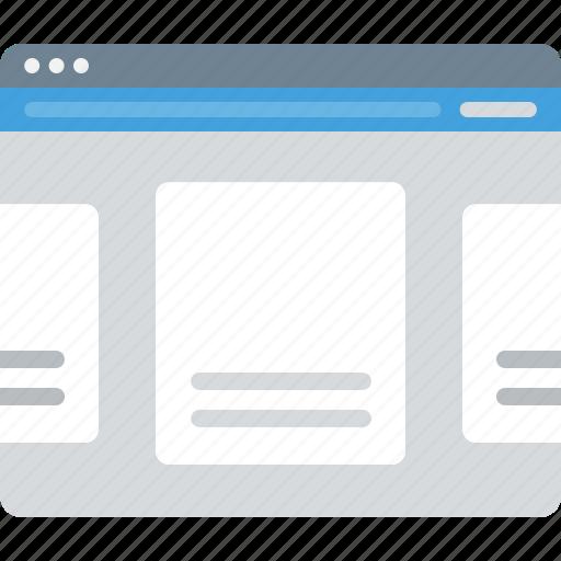 Browser, layout, sitemap, slider, ui, web, wireframe icon - Download on Iconfinder