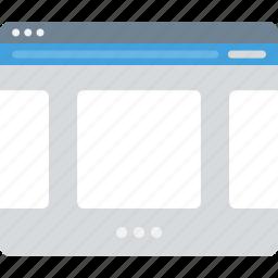 browser, layour, sitemap, slider, ui, web, wireframe icon