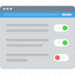 controls, layout, sitemap, ui, web, wireframe icon
