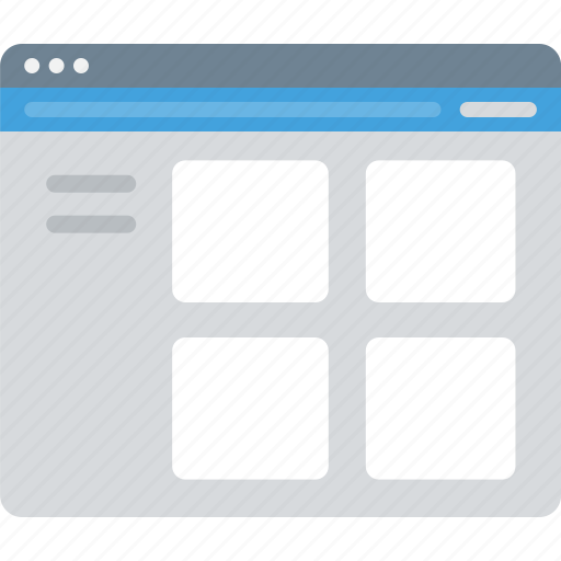 browser, layout, portfolio, sitemap, ui, web, wireframe icon
