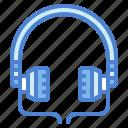 earphones, headphones, headset, technology icon