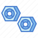 hexagonal, industry, nut, tools icon