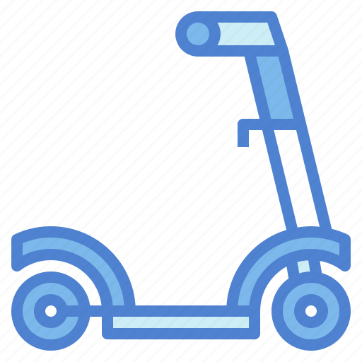 childhood, fun, scooter, transport icon