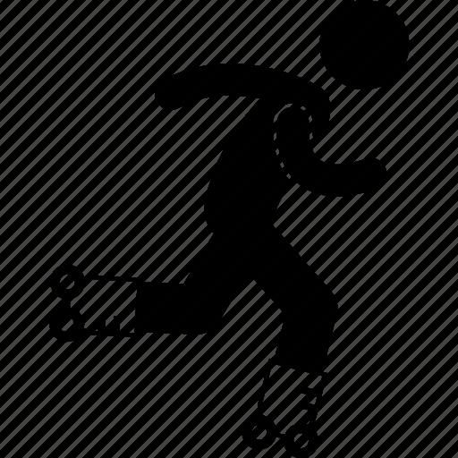 hobby, inline skating, outdoor, roller, rollerskate, skating, sport icon
