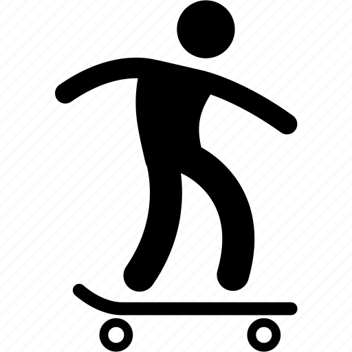 activity, hobby, outdoor, recreational, skateboard, skating, sport icon