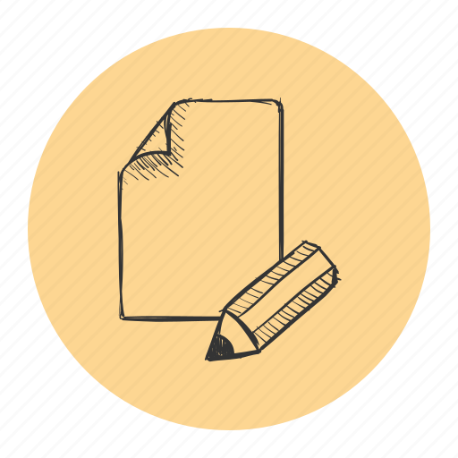 enhance, improvements, page, paper, pencil, review, sketch icon