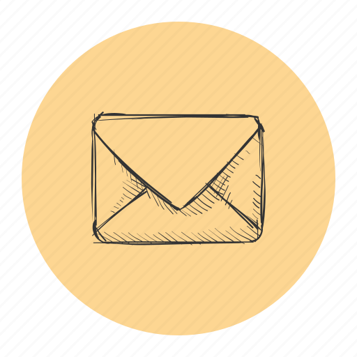 close, email, letter, mail, message, sketch icon