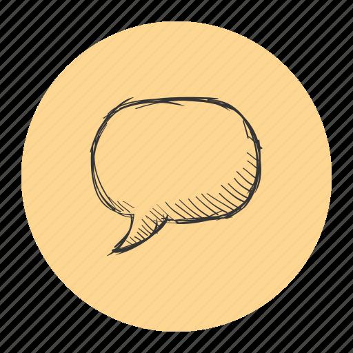 message, quote, said, sketch, talk, text icon