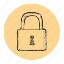 lock, privacy, safe, security icon