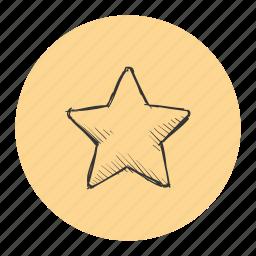 bookmark, favorite, pin, prize, reward, ribbon, star icon