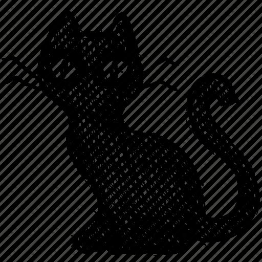 animal, cat, feline, halloween, pet, spooky icon