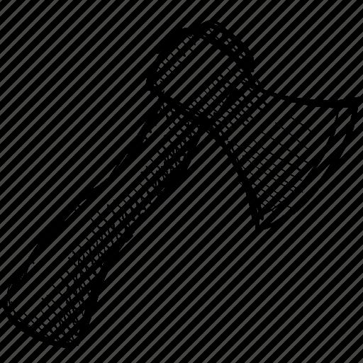 axe, blade, chop, hatchet, tool, work icon