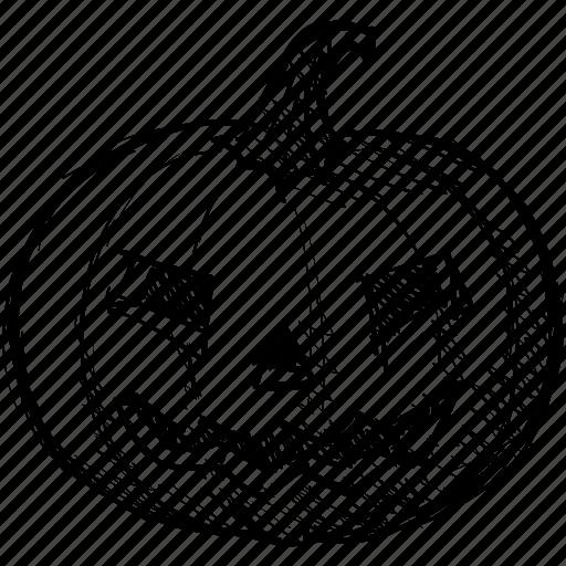 face, halloween, head, jack, pumpkin, scary icon