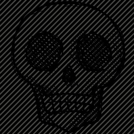 dead, halloween, head, horror, scary, skeleton, skull icon