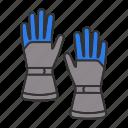 clothing, glove, gloves, handwear, protection, ski, winter icon