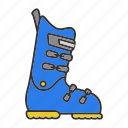 alpine, boot, footwear, shoe, ski, snowboard, winter icon