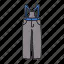 bib-and-brace, clothing, pants, ski, snowsuit, wear icon