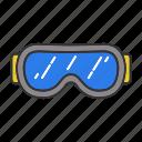 eyeglasses, glasses, goggles, protection, ski, skiing, snow icon