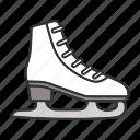 fugure, ice, shoe, skate, skating, sport, winter icon