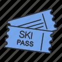 entry, pass, resort, ski, skipass, ticket, skiing icon