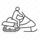 bike, driver, motor sled, person, sledge, snowmachine, snowmobile icon