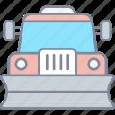 snowplow, plough, vehicle, truck
