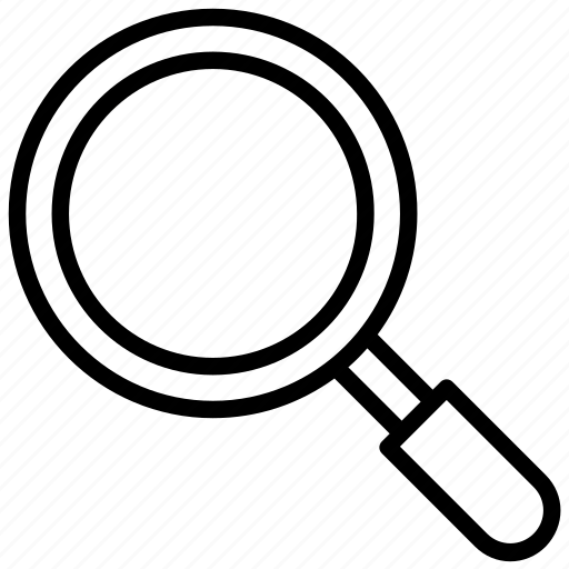 convex lens, magnifier, magnifying glass, search tool, zoom tool icon