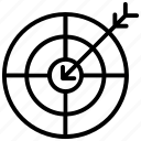 aim, bullseye, focus, goal, target icon