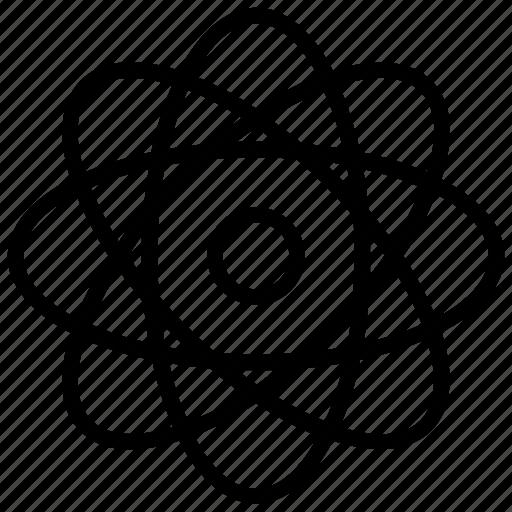 atom science, atomic system, science logo, science symbol, scientific system icon