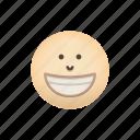 beaming, emoji, face, positive, smile icon
