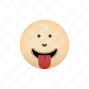 emoji, face, tongue, with icon
