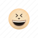 emoji, face, grinning, squinting icon