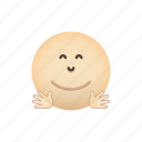 emoji, face, hug, hugging, positive icon