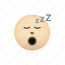emoji, face, sleep, sleeping, zzz icon
