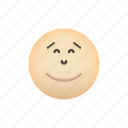 emoji, face, happy, satisfied, smiling icon