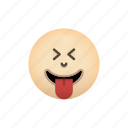 emoji, face, squinting, tongue, with icon