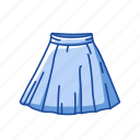 clothing, garment, gored skirt, plated skirt, short skirt, skirt icon