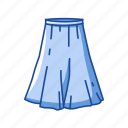 a-line skirt, clothes, clothing, dress, fashion, garment, skirt icon