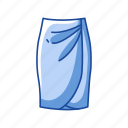 clothes, clothing, dress, fashion, garment, skirt, tulip skirt icon