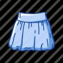 bell shape, clothing, plated skirt, puffball skirt, short skirt icon